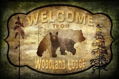 Welcome - Lodge Black Bear 2 by LightBoxJournal art print