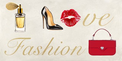 I Love Fashion by Michelle Clair art print
