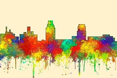 Camden New Jersey Skyline-SG by Marlene Watson art print