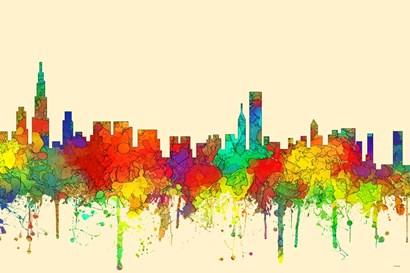 Chicago Illinois Skyline-SG by Marlene Watson art print