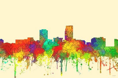 Omaha Nebraska Skyline-SG by Marlene Watson art print