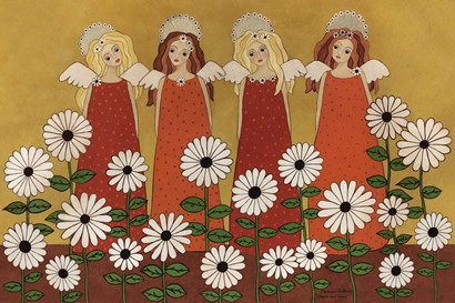 Angels Ana Daisies by Medana Gabbard art print