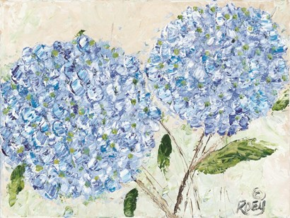 Blue Hydrangeas I by Roey Ebert art print