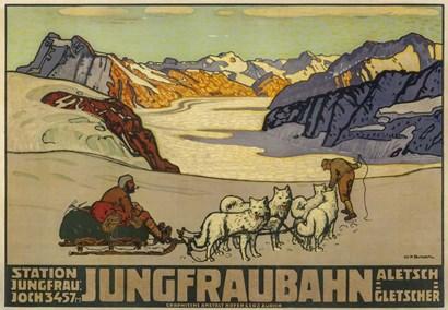 Jungfraubahn by Vintage Apple Collection art print