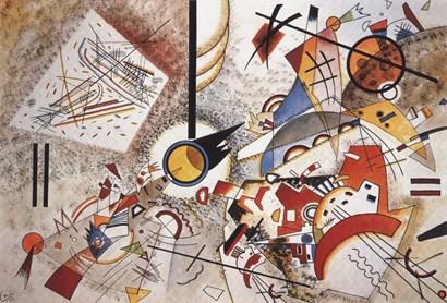 Bustling Aquarelle c1923 by Wassily Kandinsky art print