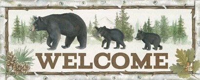 Family Cabin Welcome by Beth Grove art print