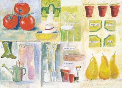 The Herb Garden by Michael Clark art print