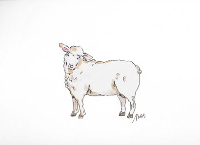 Sheep by Molly Susan Strong art print