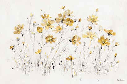 Wildflowers I Yellow by Lisa Audit art print