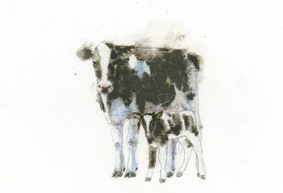 Cow and Calf Light by Emily Adams art print