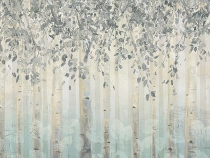 Silver and Gray Dream Forest I by James Wiens art print