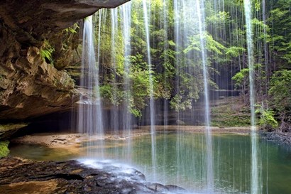 Alabama Caney Creek Veil by Mike Jones Photo art print