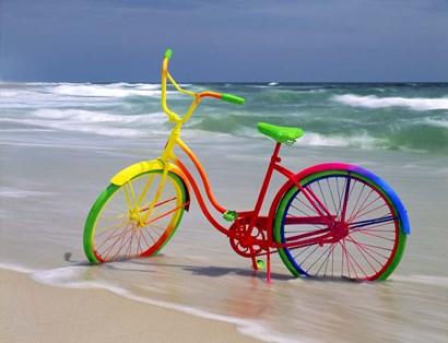 Rainbow Bike by Mike Jones Photo art print