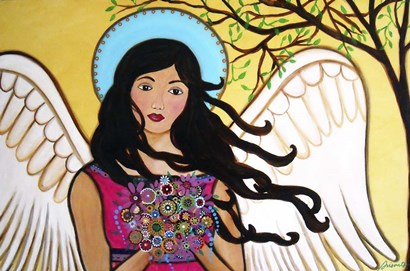 Angel Grace by Prisarts art print