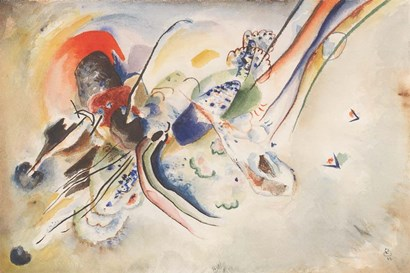 Study for Picture with Two Red Spots, 1916 by Wassily Kandinsky art print