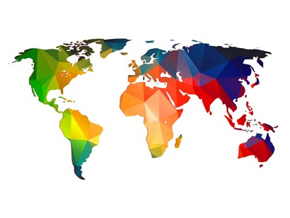 World Polygon Map 1 by Naxart art print