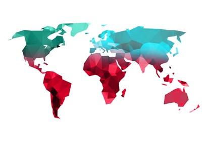 Polygon World Map 1 by Naxart art print