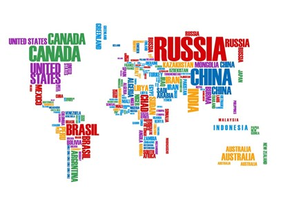 Typography World Map 8 by Naxart art print
