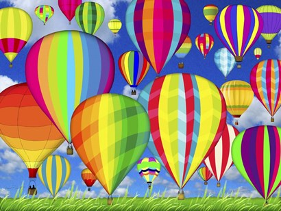 Hot Air Balloons by Jean Plout art print