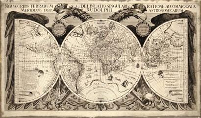 Noua Orbis Terrarum 1630 by Vintage Lavoie art print