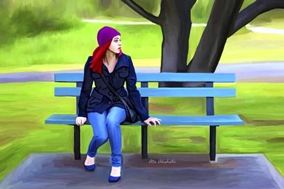 Waiting by Ata Alishahi art print