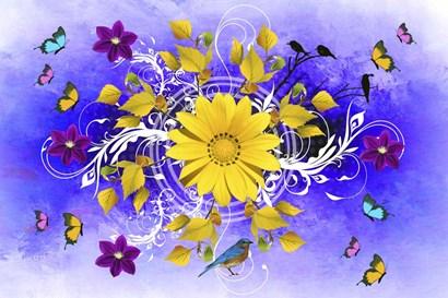 Flowers Design 1 by Ata Alishahi art print
