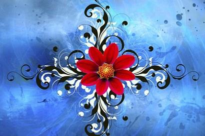 Flower Design 1 by Ata Alishahi art print