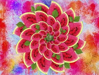 Watermelon Flower by Ata Alishahi art print