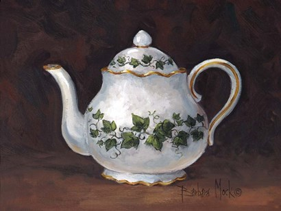 Ivy Teapot by Barbara Mock art print