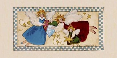 Angel Trio by Barbara Mock art print