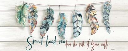 Tribal Feathers Sign by Tre Sorelle Studios art print