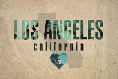 Los Angeles by Red Atlas Designs art print