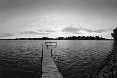 Pier in Lake Minnetonka, Minnesota by Panoramic Images art print