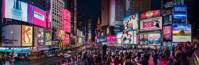 Times Square, Manhattan by Panoramic Images art print