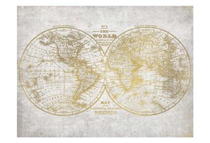 No. 1 World Map by Kimberly Allen art print