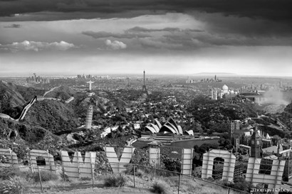 One Too Many Drinks BW by Thomas Barbey art print