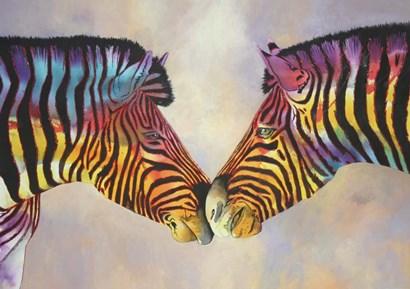 Spectrum Zebras by Graeme Stevenson art print