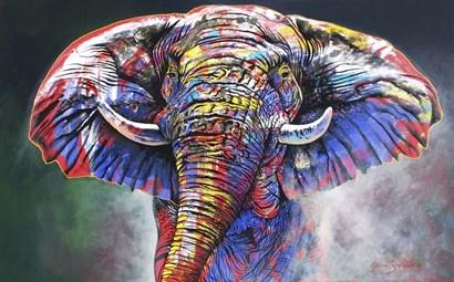 The Rainbow Bull by Graeme Stevenson art print