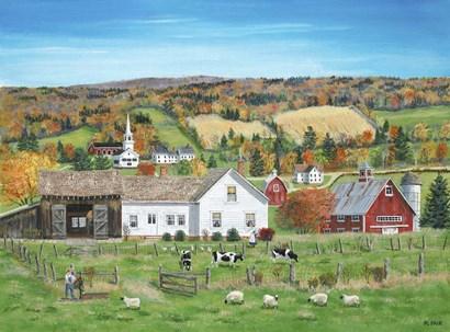 Autumn Fields by Bob Fair art print