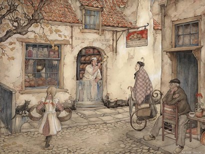 Bakery by Anton Pieck art print
