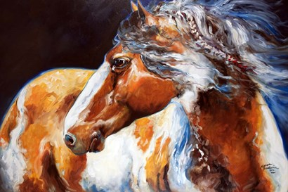 Mohican Indian War Horse by Marcia Baldwin art print