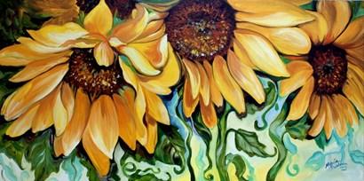 Sunflower Dance by Marcia Baldwin art print