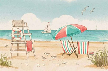 Beach Time I by Janelle Penner art print