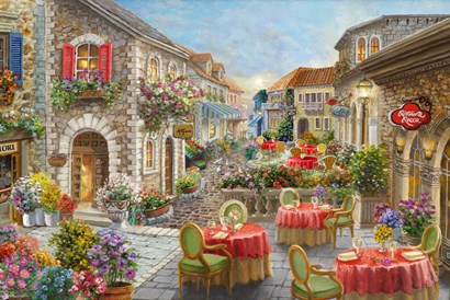Fiori Caffes by Nicky Boehme art print