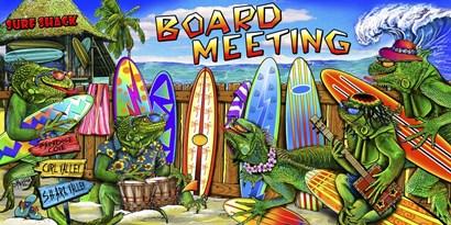 Tropical Board Meeting by Messina Graphix art print