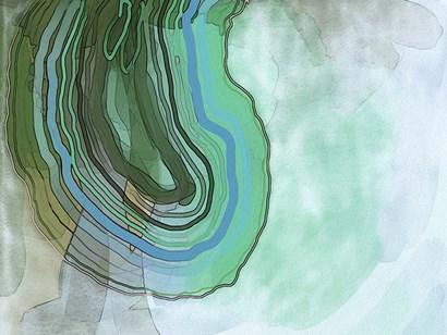 Xray Agate Aqua by Sandi Hauanio art print