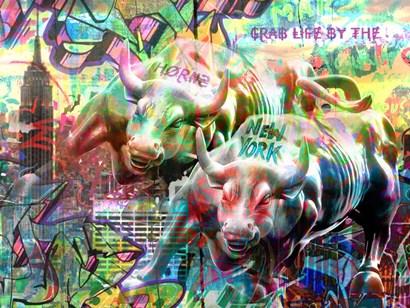 Wall Street Bull by Surma & Guillen art print