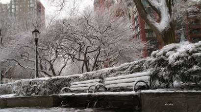 New York Benches 2 by Rick Novak art print