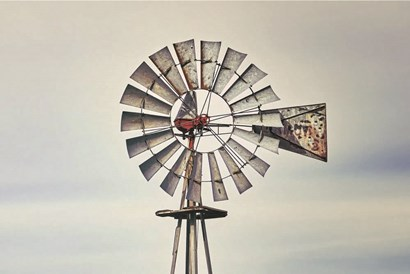 Windmill Close-Up by White Ladder art print