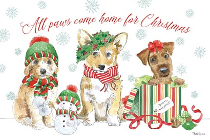 Holiday Paws I by Beth Grove art print
